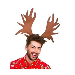 Giant Antlers Headband Reindeer Christmas Novelty Adults Fancy Dress Accessory $24.59