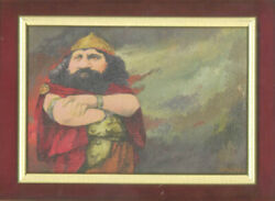 CHARLES BRAGG quot;VIKINGquot; OIL PAINTING ON CANVAS SIGNED CIRCA 1996 $4750.00
