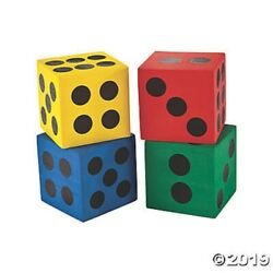 12 Jumbo Big Large Foam Dice Circus Party Game Carnival Novelty Birthday Prizes $11.27