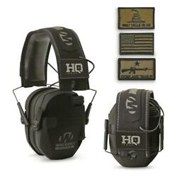 HQ ISSUE Walker#x27;s Patriot Series Electronic Ear Muffs Color Black $48.49