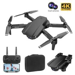 E99 PRO2 FPV Wifi Drone With 4K HD Dual Camera Aircraft Foldable RC Quadcopter $53.61