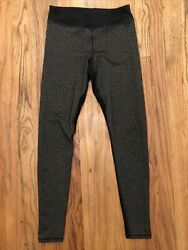 C9 Champion High Rise Duo Dry Leggings Animal Print Size XS Black Gray $10.99