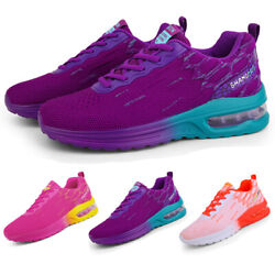 Women#x27;s Air Cushion Sneakers Breathable Casual Sports Running Tennis Shoes Gym $26.99