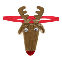 US Sexy Men Novelty Christmas Reindeer G String Thong Brief Stag Party Underwear $4.84