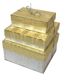 48pc Gold Boxes Gift Boxes Silver Gift Boxes MIXED Size Jewelry Boxes FREE Bows $37.99