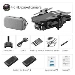 4K Drone HD Camera Mini Dron WiFi FPV Foldable Quadcopter RC Toy 2 Battery Bag $49.00