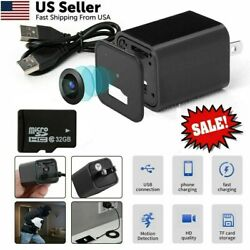 32GB HD 1080P Mini Camera Wall Plug Adapter USB Charger DVR Cam Motion Detection $15.77