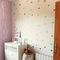 Heart Wall Sticker For Kids Room Decorative Stickers Wall Decal Girl Decorations $6.07