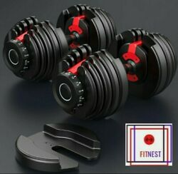 ADJUSTABLE WEIGHT DUMBBELL PAIR 5 52.5 LBS. FITNESS HOME WORKOUT EQUIPMENT $414.00