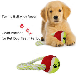 New Pet Toys Durable Bungee Rope Tug with Tennis Ball for Cute Dogs Playing $5.89