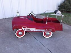 Burns Novelty and Toy Fire Dept. Jet Flow Drive No 287 Pedal Car $275.00