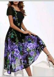 Ultra Elegant Classy Floral Dress For Women 160.00 MSRP New W Tag $45.00