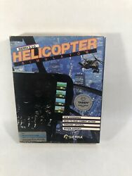 """Sierra's 3 D Helicopter Simulator Sierra 3.5"""" 5.25"""" IBM Tandy MS DOS Pre owned $20.00"""