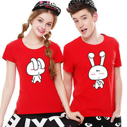 12 color Women men tops summer clothes Lovers couple T shirt Bugs Bunny Couple $14.08