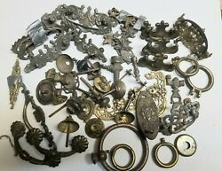 Huge miscellaneous lot Dresser Hardware many pieces and parts. $35.00