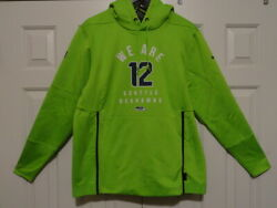 New Mens NIKE NFL SEATTLE SEAHAWKS THERMA LOCAL quot;WE ARE 12quot; HOODIE GREEN NAVY $59.99