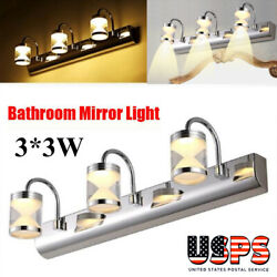 Modern 3W LED Mirror Front Light Bathroom Vanity Makeup Dressing Wall Lamps $30.99
