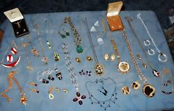 Great Big Variety 19 Sets Vintage Modern Pendant Necklaces Matching Earrings $49.99