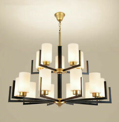 Modern 15 Lights Glass Shade Chandeliers Hanging Lamp Lighting Ceiling Fixtures $219.87