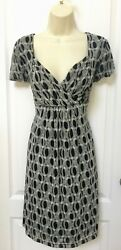 Forever Size Medium 8 Woman#x27;s Black Ivory Casual Career Cocktail Party Dress $17.95