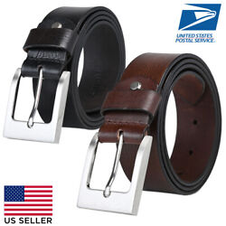 Mens Genuine Leather Belts for Jeans and Business Dress HEAVY DUTY HAND STICHED $14.99