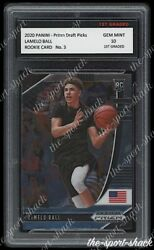 🌟2020 Lamelo Ball NBA Panini Prizm Rookie 1st Graded 10 Hornets RC Card #3🌟 $149.99