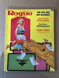 Rogue for Men Feb. 1959 Pin Ups George Sanders Fiction $12.50
