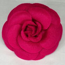 Dog Collar Flower Accessory Pink Felt Easy attachment removal $8.95