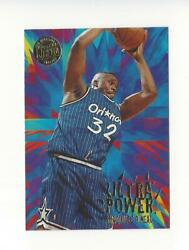 1995 96 Ultra Power Gold Medallion #9 Shaquille O#x27;Neal Magic $3.99