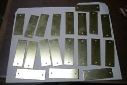 20 SOLID BRASS TAGS 1quot; X 3quot; RECTANGULAR BLANK 18 GA. ENGRAVING STAMPING NOS $19.99