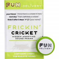 FUN delivery: Frickin#x27; Cricket Hidden Annoying Chirping Joke Gag Prank Sound $14.58