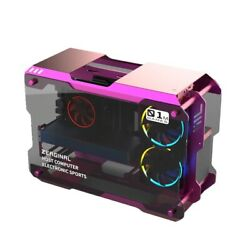 Aluminum Alloy Frame Gaming ATX Matx PC Water Cooling Glass Mini Computer Case $499.99