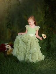 Dollcake Green with Envy Holiday Frock Dress Party Girls sz 5 RARE $329.00