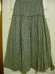 Ladies Small 8 Skirt Hobo Bohemian Maxi Skirt by Coldwater Creek $15.75