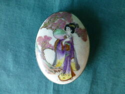 Antique Antique Satsuma Geisha Girl Buckle $50.00
