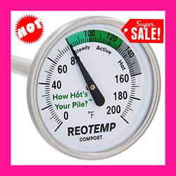 REOTEMP Backyard Compost Thermometer 20quot; Stem with PDF Composting Guide 0 200 $35.36