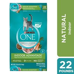 Purina ONE Hairball Weight Control Natural Dry Cat Food Indoor Advantage 22... $29.98