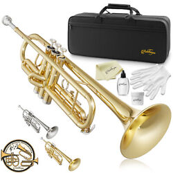 Bb Standard Trumpet Brass Band Instrument B Flat Key w Padded Case Mouthpiece $96.99
