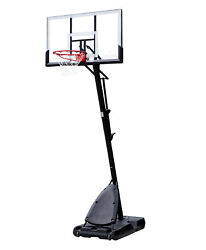 New Spalding 54quot; Polycarbonate Portable Adjustable Kids Basketball Hoop $269.00