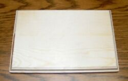 Unfinished Wood Plaque Wooden Base Stand 6 x 9 x 3 4 Inches $9.00