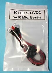 Set of 8 RED LED Prewired 2 RED Blinking LED#x27;s Great for Car Truck Security $4.75