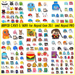 Cute 3D Cartoon Silicone Case Protector Shockproof Cover For AirPods 1amp;2 Skins $7.99