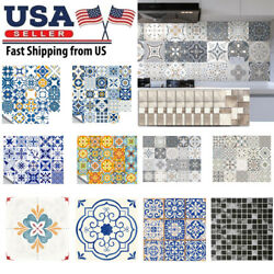 Retro Floor Tile Kitchen Wall Stickers Mosaic Self adhesive Waterproof PVC Decal $9.73