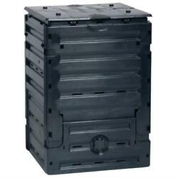 UV Resistant Black Recycled Plastic Compost Bin with Lid 79 Gallon $171.32