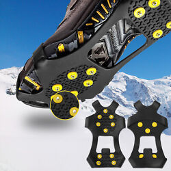 Ice Snow Grips Anti Slip On Over shoe Boot studs Crampons Cleats Spikes Grippers $8.96