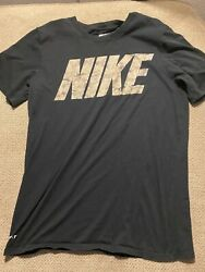 Men's Black Nike Camouflage Camo Military Shirt Small S