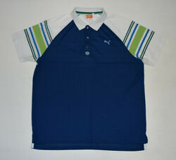 WOW PUMA Men Novelty Tech Polo Perform Golf Shirt 558039 XL Multi Color Blue B7 $19.99