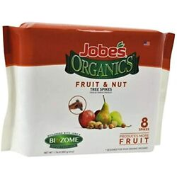 Jobe#x27;s Organics Fertilizer Spikes Fruit Nut Tree 8 Spikes Garden amp;amp Outdoor $34.99