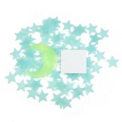 Home Stickers Plastic Star Stars and Moon Wall doors 3D Ceiling Decor Kids C $12.65