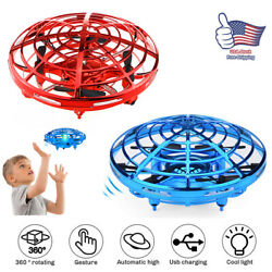 Mini UFO Drone Quad Induction Levitation Hand Operated Helicopter Toy Red Blue $16.98